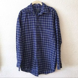 Vintage 90s Mens Structure Blue Plaid Flannel S